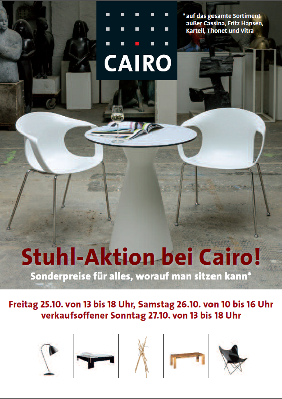 Stuhl aktion in unserem design outlet for Stuhl design outlet